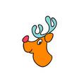 christmas theme with deer set of christmas icons vector image vector image