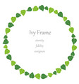 circular ivy frame vector image