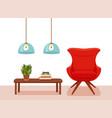 colorful cozy interior warm bright winter vector image