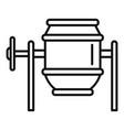concrete mixer icon outline style vector image vector image