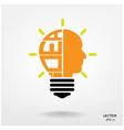 Creative light bulb sign vector image vector image