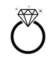 diamond jewelery ring vector image vector image