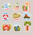 different taglines sticker cartoon vector image vector image