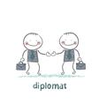 diplomats shake hands vector image