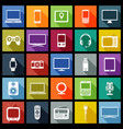 electronic devices flat design icons vector image vector image