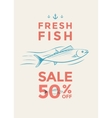 Fish sale poster vector image vector image