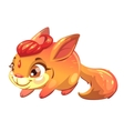 Funny cartoon fantasy squirrel pet vector image