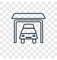 garage concept linear icon isolated on vector image