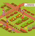 gardening isometric composition
