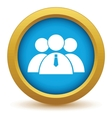 Gold leader of the team icon vector image vector image
