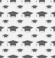 Graduation Cap Seamless Pattern Background vector image vector image