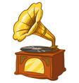 gramophone vintage music phonograph vector image