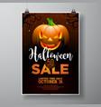 halloween sale with pumpkin on black sky vector image vector image