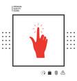 hand click icon vector image