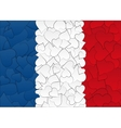 Hearts doodles hand drawn flag France with love vector image vector image