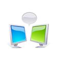icon monitors vector image vector image