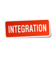 integration square sticker on white vector image vector image