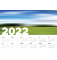 light calendar template for year 2022 vector image vector image