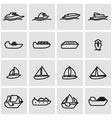 line ship and boat icon set vector image