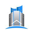 Modern building real estate logo vector image vector image