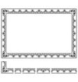 Modular frame vector image vector image