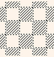 monochrome geometric checkered seamless pattern vector image vector image