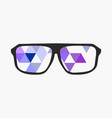 nerd glasses on grey background with triangles vector image vector image