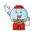 okay gumball machine character cartoon vector image vector image