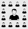 people man icons set vector image vector image