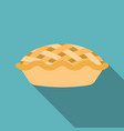 pie icon with long shadow vector image vector image