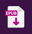 purple icon epub file format extensions vector image vector image