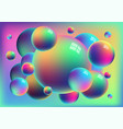 rainbow anodized titanium balls background vector image vector image
