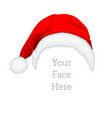 realistic red santa claus hat icon isolated vector image vector image