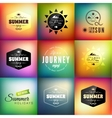 Retro styled summer calligraphic design card set vector image vector image