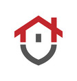 rgbhome protection logo design template vector image vector image