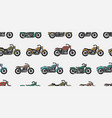 seamless pattern with vintage motorcycles vector image vector image
