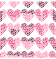 Seamless romantic pattern of hearts vector image vector image