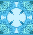 seamless texture with patterned mandala and vector image vector image