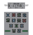 set of celtic capital letters vector image vector image