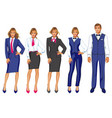 set of isolated characters hotel staff vector image