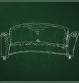 sketch with soft classic couch vector image