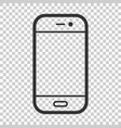 smartphone icon in flat style phone handset on vector image vector image