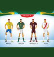 soccer or football south america team uniform vector image vector image