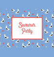 summer party invitation card template with vector image