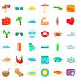 umbrella icons set cartoon style vector image vector image