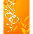 valentines shape orange vector image