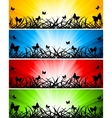 vector set of four banners vector image