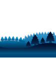 winter landscape pine trees forest vector image vector image