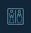 women and men toilet creative icon in vector image vector image