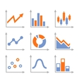 Simple Set of Diagram and Graphs vector image
